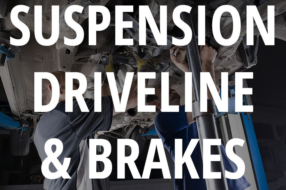 suspension driveline and brakes